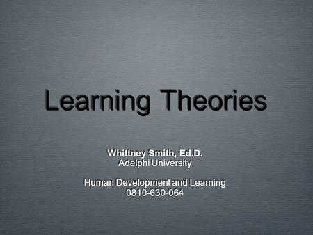 Human Development and Learning