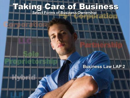 Select Forms of Business Ownership