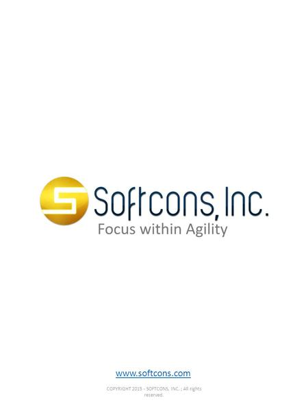 Www.softcons.com COPYRIGHT 2015 - SOFTCONS, INC. ; All rights reserved.