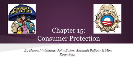 Chapter 15: Consumer Protection