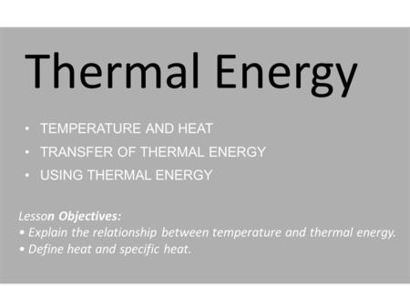 temperature and heat relationship quiz