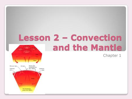 Lesson 2 – Convection and the Mantle