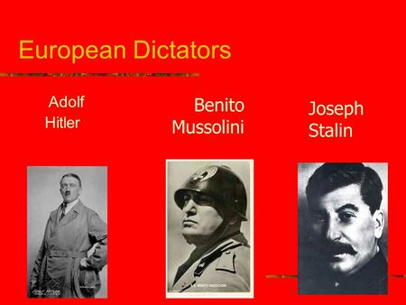 a comparison between adolf hitler and mussolini