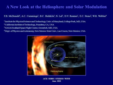 A New Look at the Heliosphere and Solar Modulation