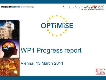 WP1 Progress report Vienna, 13 March 2011. Achievements General -4 Staff members (1 Image Analyst, 1 part-time Radiologist, 2 Research Assistants) in.