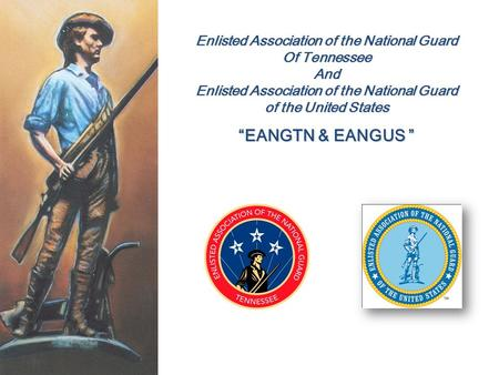 """EANGTN & EANGUS "" Enlisted Association of the National Guard"