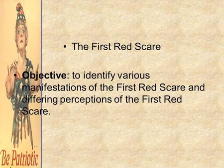 a history of the red scare in the world war one