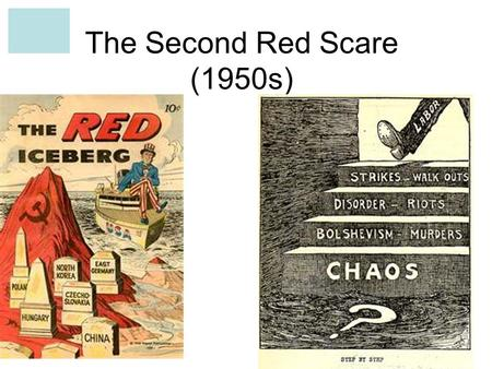 The Second Red Scare (1950s). SUSPICIONS DEVELOPED DURING THE WAR Even during the war, the two nations disagreed on many issues The U.S. was furious that.