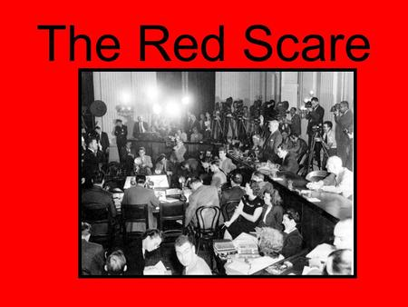 The Red Scare. In 1947, the Truman Administration, under pressure from Republican critics, set up a Loyalty Review Board to investigate the background.