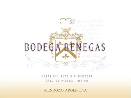 "MENDOZA - ARGENTINA. Bodega Benegas is the result of Federico Benegas Lynch effort and passion. He was born and grew up in ""El Trapiche"" winery founded."