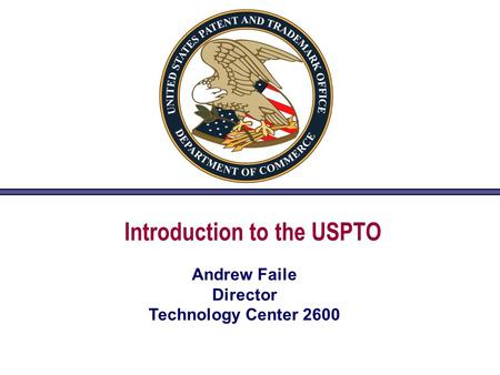 Introduction to the USPTO