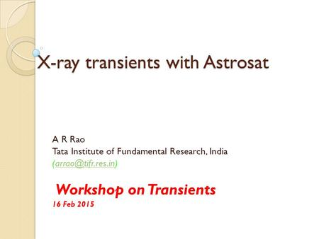 X-ray transients with Astrosat
