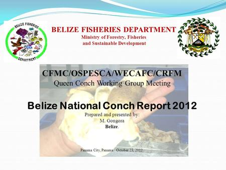 Belize National Conch Report 2012