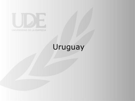 Uruguay. Geography History and Government The historical independence process had two big phases; first the country became a regional unit ( Banda.
