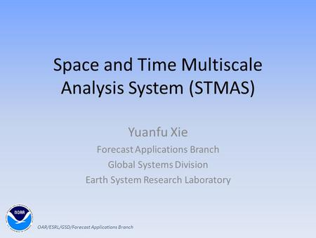 Space and Time Multiscale Analysis System (STMAS)