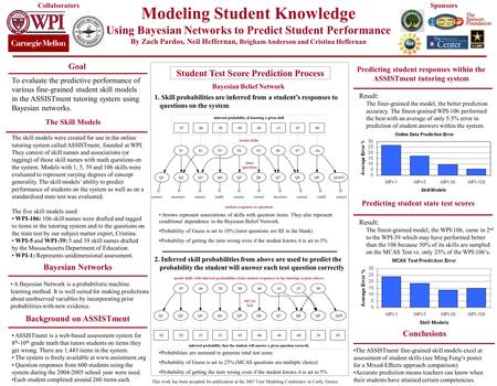 Modeling Student Knowledge Using Bayesian Networks to Predict Student Performance By Zach Pardos, Neil Heffernan, Brigham Anderson and Cristina Heffernan.