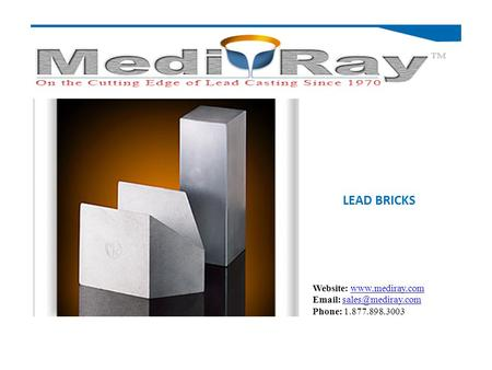 LEAD BRICKS Website:    Phone: 1.877.898.3003.