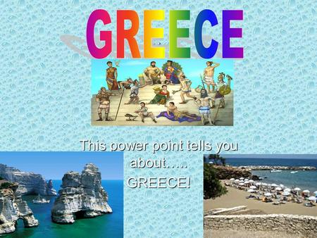 .. This power point tells you about….. GREECE!. This is a temple in Greece, people go to temples to worship their G-ds. The god or goddesses was represented.