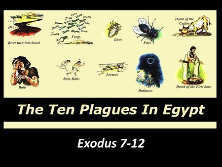 "The Plagues of Egypt Exodus 7-12. ""Who is the Lord, that I should obey His voice to let Israel go? I do not know the Lord, nor will I let Israel go"" (Ex."