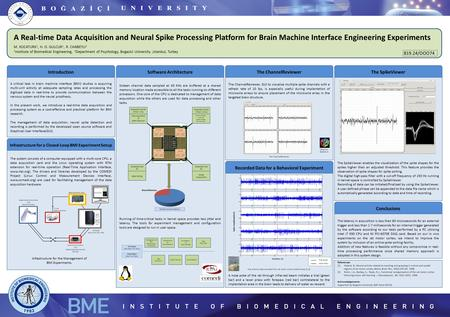 A Real-time Data Acquisition and Neural Spike Processing Platform for Brain Machine Interface Engineering Experiments M. KOCATURK 1, H. O. GULCUR 1, R.