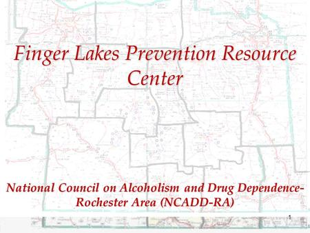 National Council on Alcoholism and Drug Dependence- Rochester Area (NCADD-RA) Finger Lakes Prevention Resource Center 1.