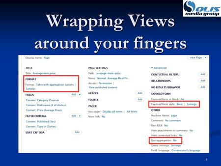 Wrapping Views around your fingers 1. 2 Dennis Solis Solis Media Group Solis Media Group Over 20 years of application software development. Over 20 years.