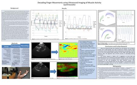 Decoding Finger Movements using Ultrasound Imaging of Muscle Activity Jayanth Devanathan Conclusions and Further Research Methods Bibliography T0 min T1.