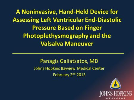A Noninvasive, Hand-Held Device for Assessing Left Ventricular End-Diastolic Pressure Based on Finger Photoplethysmography and the Valsalva Maneuver Panagis.