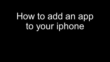 How to add an app to your iphone. Visit the website www.metrochiefs.or g on your smartphone.