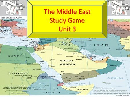The Middle East Study Game Unit 3. A country ruled by a person that has complete and unlimited power Autocracy.