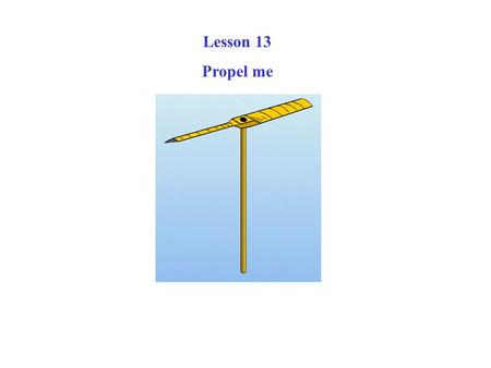 Lesson 13 Propel me. In a helicopter, you can move in any direction or you can rotate 360 degrees.