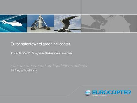 Eurocopter toward green helicopter