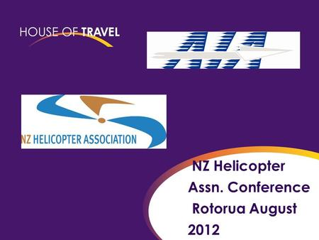 NZ Helicopter Assn. Conference Rotorua August 2012.