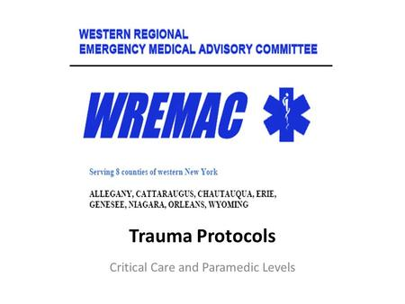 Critical Care and Paramedic Levels