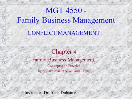 MGT Family Business Management