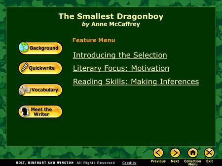 The Smallest Dragonboy by Anne McCaffrey
