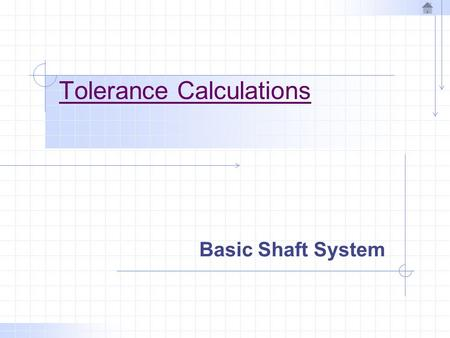 Tolerance Calculations