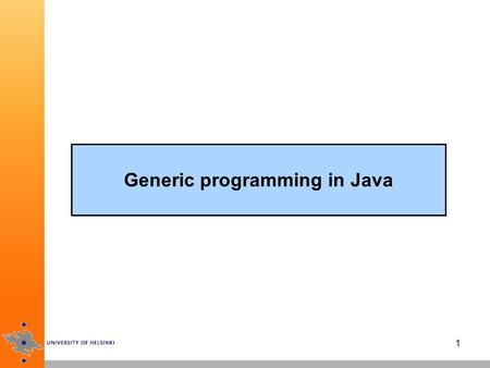 Generic programming in Java