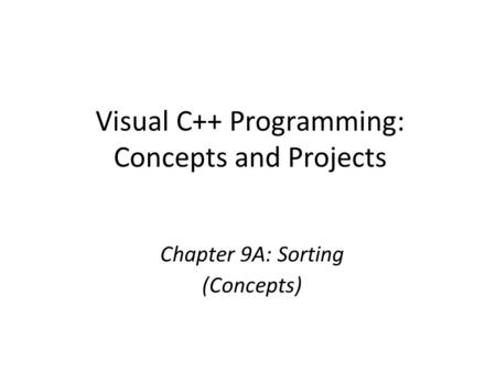 Visual C++ Programming: Concepts and Projects