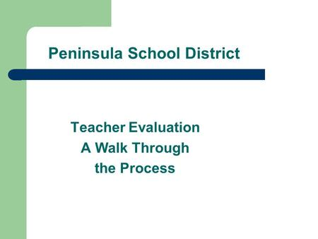 Peninsula School District