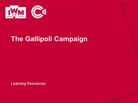 The Gallipoli Campaign Learning Resources. The images in this resource can be freely used for non-commercial use in your classroom subject to the terms.