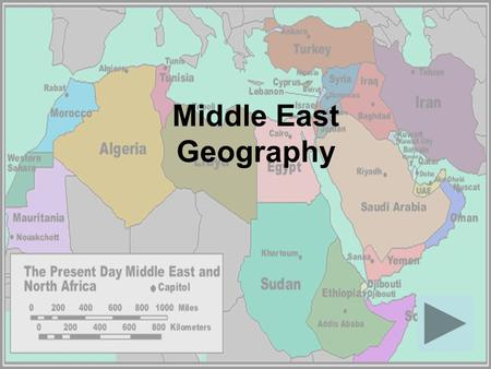 Middle East Geography.