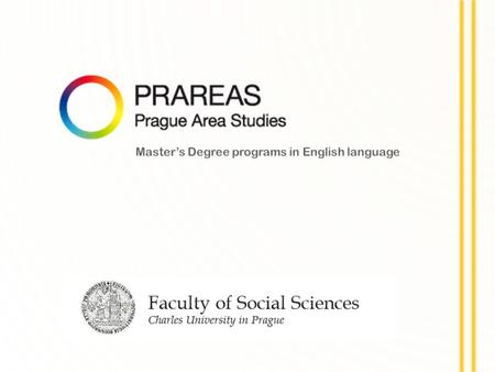 The Faculty of Social Sciences (FSS) is one of the newest faculties of Charles University in Prague. Shortly after its creation in 1990 it became a regional.