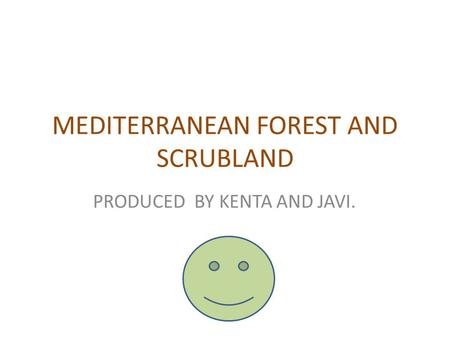 MEDITERRANEAN FOREST AND SCRUBLAND PRODUCED BY KENTA AND JAVI.