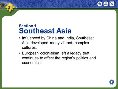 Southeast Asia Section 1