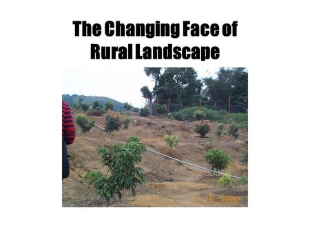 The Changing Face of Rural Landscape Introduction Area of farmland = people involved in agriculture decrease = People now involved in agriculture: facing.