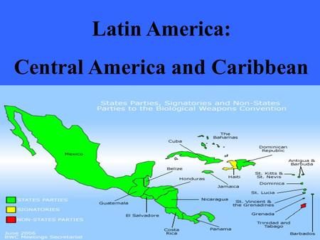Latin America: Central America and Caribbean. INTRODUCTION DEFINING THE REGION – Mexico – Central America – Caribbean Islands (Greater and Lesser Antilles)