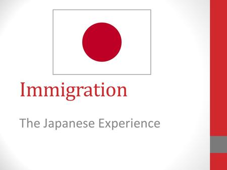 Immigration The Japanese Experience. Where is Japan?