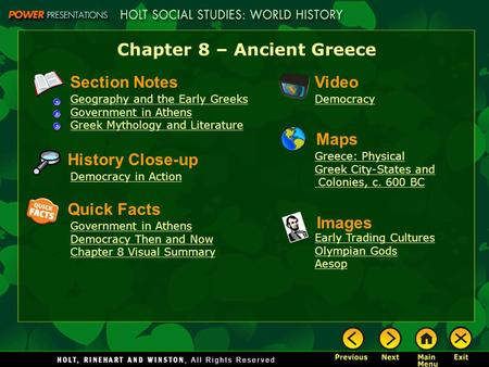 Chapter 8 – Ancient Greece