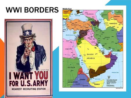 WWI BORDERS. COUNTRIES INVOLVED Ottoman Empire France Britain Germany Russia Israel.